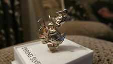 VINTAGE STERLING SILVER BRACELET CHARM DONALD DUCK WITH BUCKET & SPADE