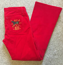 WORN ONCE POLO RALPH LAUREN RED POLO CLUB TROUSERS JEANS 29 W REG LEG COST£120