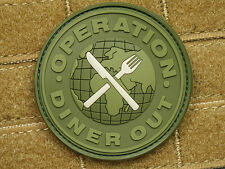 JTG-Operation Diner out Patch, Forest/3d Rubber Patch