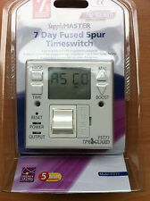 7 Day Fused Spur Timer Switch Immersion Heating Energy Saving Boost FST77