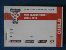 York City FC Mini Season Ticket 2013/14 booklet - Complete.