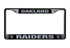 Oakland Raiders Metal BLACK License Plate Frame Auto Truck Car NFL