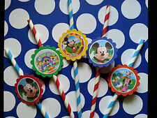 24 Mickey mouse clubhouse straws party favors, goodie bag fillers, tableware