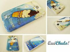 FUNDA CARCASA RIGIDA PARA SAMSUNG GALAXY S4 I9500  ICE CREAM