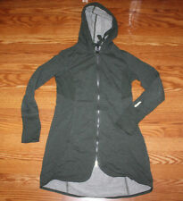 NWT Womens MONDETTA Olive Green Long Hooded 3/4 Length Terry Jacket Sz M Medium
