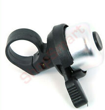MINI SILVER & BLACK BICYCLE CYCLIST BIKE BELL HANDLEBAR