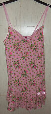 EXCELLENT WOMENS / JUNIORS BETSEY JOHNSON PINK ROSEBUDS KNIT NIGHTGOWN  SIZE L