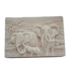 Silicone Soap Molds Craft mold DIY handmade Soap making mold Elephant Family