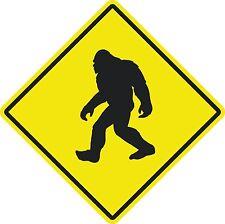 """Bigfoot Crossing sign 16"""" x 16"""" Diagonal dimensions"""