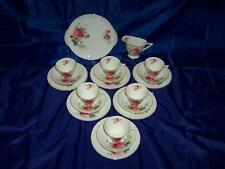 "Art Deco Royal Doulton ""JUNE"" English Roses 20pc Tea Set c1930`s"