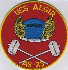 USS Aegir AS 23 - Noriegn Hat with Repair - BC Patch Cat No. c5379