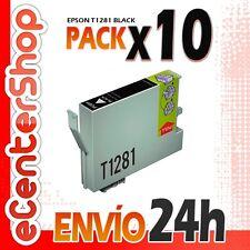 10 Cartuchos de Tinta Negra T1281 NON-OEM Epson Stylus SX430W 24H