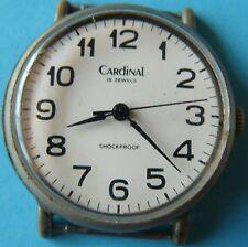 old vintage mens wrist watch Russian Cardinal RAKETA 2609 HA made in USSR 18 j