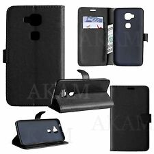 PU Leather Book Wallet Flip Stand Case Cover With Card Slots Huawei Honor 5X GR5