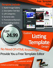 Ebay listing Design Auction Listing Template Professional Dynamic Shop Package