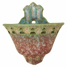 Roseville Pottery Ferella Red Wall Pocket 1266-6