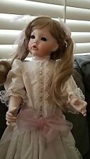 Gorgeous life like All porcelain hand made doll..REDUCED PRICE