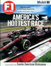 Formula 1 Racing U.S. Grand Prix F1  Austin Texas  Magazine Oct 23-25 2015