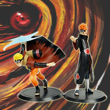 Lot 2p Japanese Anime NARUTO Shippuden Naruto Uzumaki Pain Figure Figurine NoBox