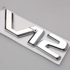 3D Badge Chrome V12 Decal Emblem Decor Sticker For CL600 W140 C140 S600 600SE