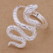 925 Sterling Silver Adjustable Fashion Casual Snake Wrap Ring / Thumb Gift Bag