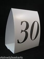 "Table Number Tent Cards Numbers 1-30 & Reserved 5"" Self Standing Wedding Tables"