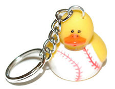 CUTE RUBBER BASEBALL DUCK KEY CHAIN (KC042)