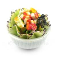Dolls House Miniature Bowl of Mixed Salad Style 3