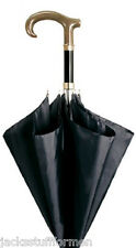 CONCORD Corno Faux Horn Handle Handcrafted Mens Black Umbrella