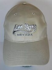 LAS VEGAS NEVADA Gambling Sin City ADVERTISING Tan Souvenir SNAPBACK HAT CAP