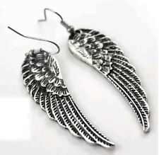 Devil Angel Demon Wings Feather Earrings Gift Set Heavy Metal Punk Rock and Roll