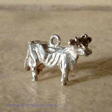 VINTAGE STERLING SILVER JERSEY COW CHARM
