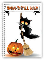 PERSONALISED HALLOWEEN A5 NOTEBOOK/ NOTEBOOK/ NOTE PAD LINED/HALLOWEEN GIFT4