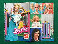 PB72 Pubblicità Advertising Clipping 19x13 cm MATTEL BARBIE CATALOGO pieghevole