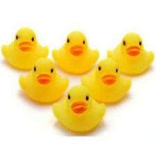 8 YELLOW FLOATING BATH RUBBER DUCKS Bath Toys Boats Duck Time Toy Baby Kids Gift