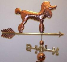 Beautiful copper Poodle weathervane, Complete Setup + mount,Fast Shiping