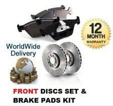 FOR VOLVO S60 2.5 i R SPEC 2003-2010 NEW FRONT BRAKE DISCS SET + DISC PADS KIT