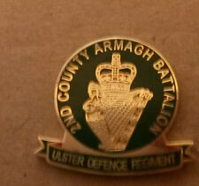 2nd county armagh ulster defence regiment udr enamel badge British Army Infantry