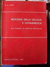 de Lerma BIOLOGIA DELLA CELLULA E CITOGENETICA ed. Cacucci 1972 genetica molecol