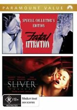 Fatal Attraction / Sliver (DVD, 2008, 2-Disc Set) PAL 4 = SEALED