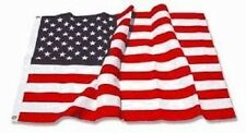 New 3' x 5' Embroidered Deluxe Nylon American US United States Flag w/ Grommets!