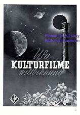 UfA Kulturfilme XL Reklame 1940 Deutscher Film Kino Werbung von Bruno Rehak +