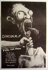 DINOSAUR JR 1994 original Advert FEEL THE PAIN without a sound