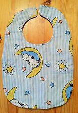 Snoopy / Peanuts - Baby Lätzchen blau mit Streifen / aus USA / Einzelstück / NEU