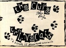 "22/10/83PGN35 SINGLE ADVERT 7X11"" THE CURE : THE LOVECATS"