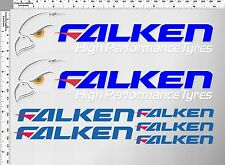 1 SET FALKEN HIGH PERFORMANCE TYRES TIRES DECALS TICKER PRINTED DIE-CUT VINYL