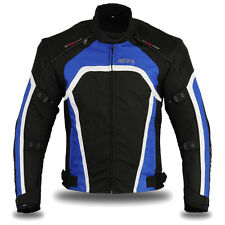 "Motorbike Motorcycle Waterproof Cordura Textile Jacket Blue 2289 L (38""-40"")"