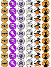 Halloween Premium Mix - 54 x Edible Wafer Rice Paper Cup Cake Toppers - FREE P&P