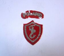"POLISH WW II SET OF 2nd CORPS & ""POLAND"" TAB- PATCHS ORIGINAL -UK POLISH ARMY IN"
