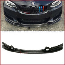 For 2014On BMW F22 F23 220i M235i M-Tech Bumper 3D Type Carbon Fiber Front Lip